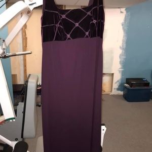 Purple evening dress with shawl